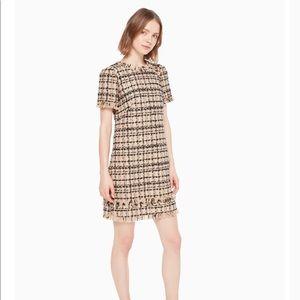 Kate Spade ♠️ Heart it bicolor tweed dress